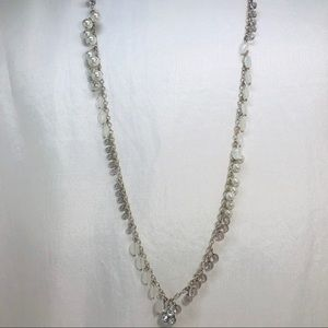 Jewelry - Beautiful Long Pearl & Bead Necklace in Silver